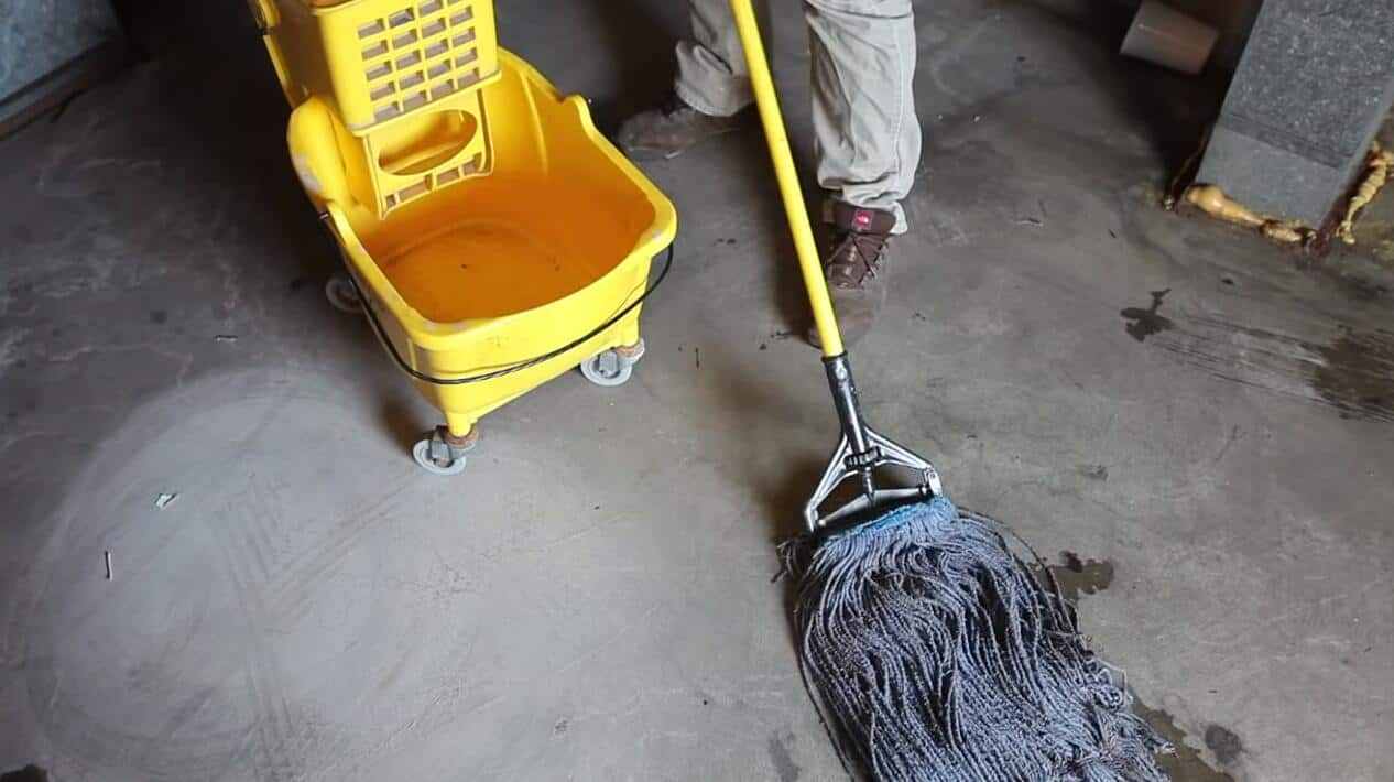 clean concrete floor